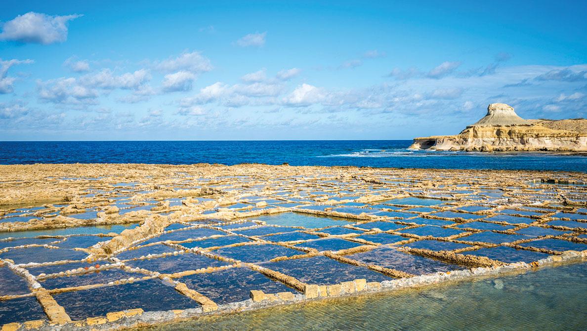 Gozo Salzpfannen Xlendi